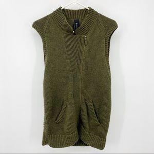 Zero + Maria Cornejo Green Wool Vest Large
